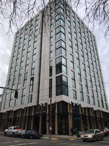 PMG PHOTO: STEPHANIE BASALYGA - The ground floor of the soon-to-be-completed, Hyatt Centric will feature Masia, a restaurant that will be operated by locally owned White Egg Hospitality.