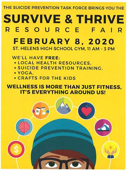 COURTESY IMAGE - The flyer for the upcoming Survive & Thrive Fair scheduled for Saturday, Feb. 8.