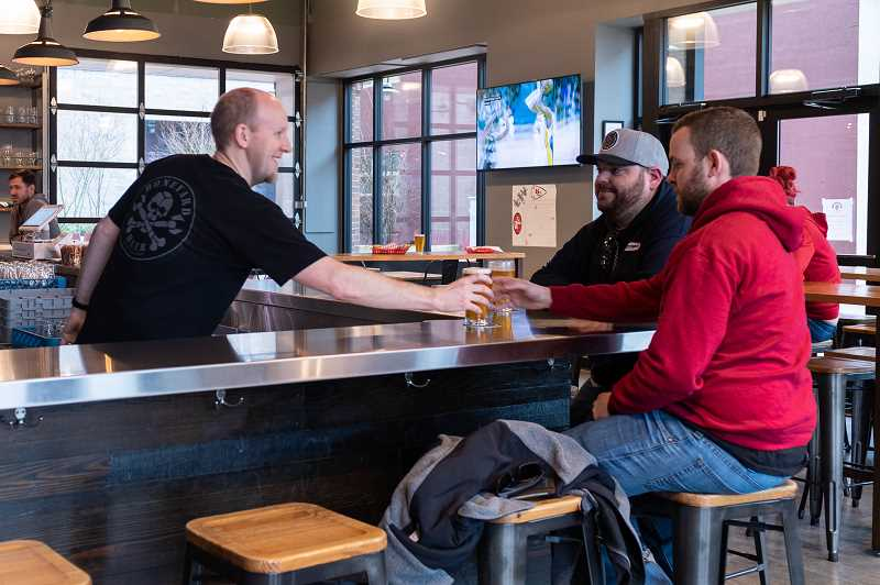 PMG PHOTO: CHRISTOPHER OERTELL - A new taproom called Nobel Hop opened recently in historic downtown Hillsboro. It offers craft beers from the Pacific Northwest.