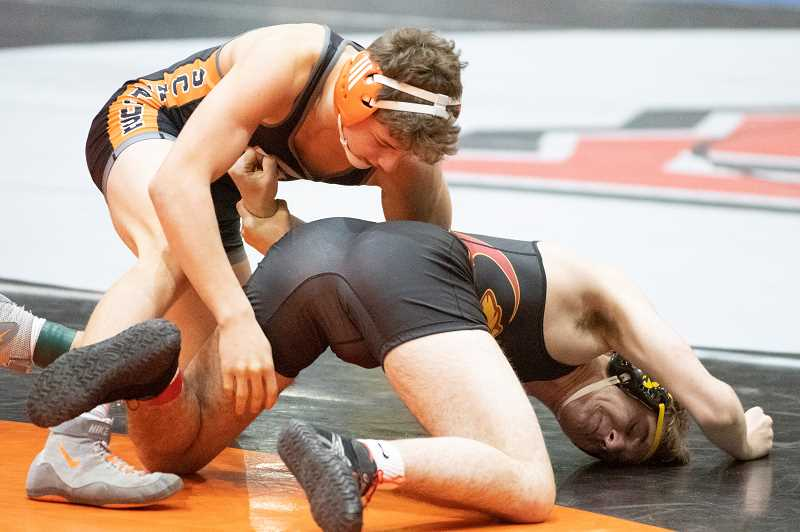 PMG PHOTO: LON AUSTIN - Scappoose star Tre Dieringer is leading and winning for the Indians this year.