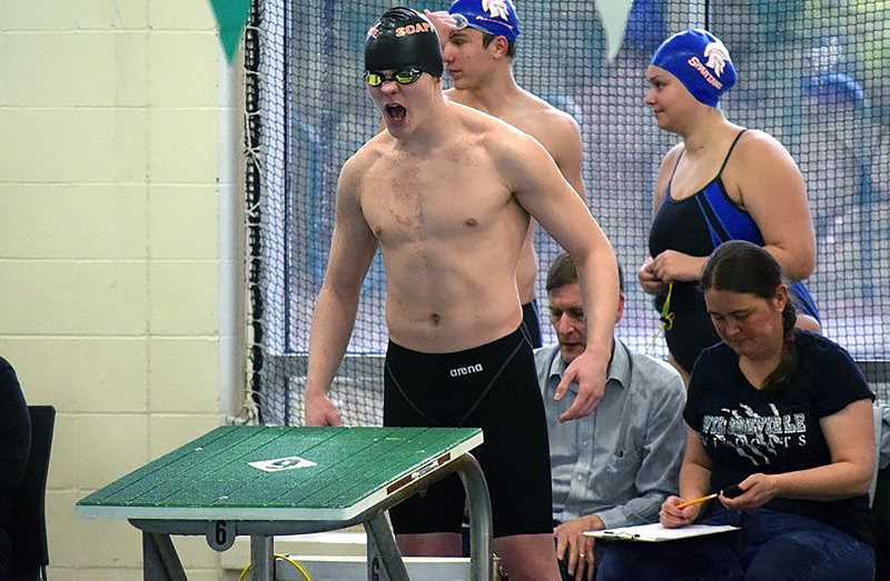 PMG FILE PHOTO - Scappoose boys swimmer Bryant Nash continues to lead and guide the Indians to wins this year.