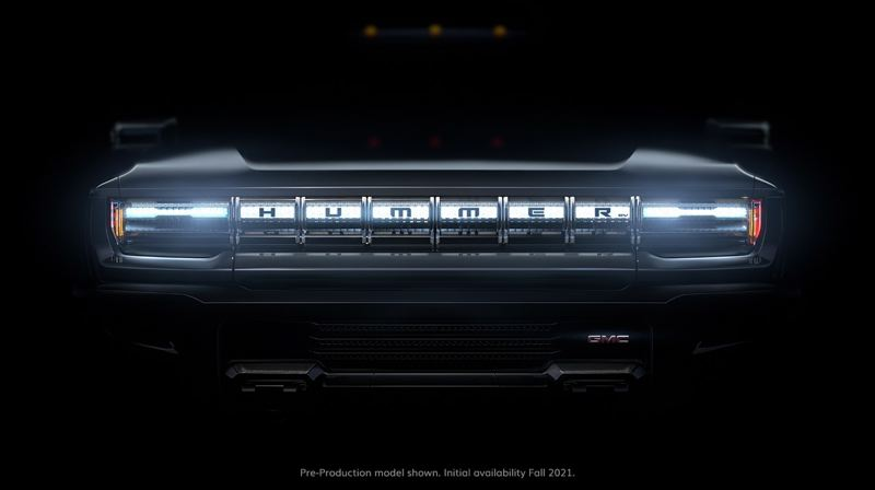 COURTESY GMC - The grill of the upcoming Hummer EV.