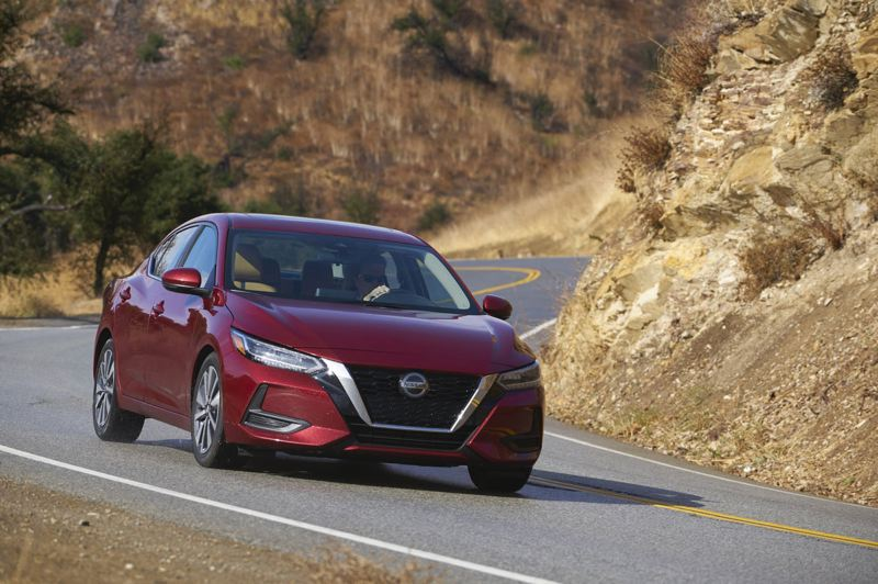 COURTESY NISSAN - The styling of the redesigned 2020 Nissan Sentra is crisp and clean, and it drives surprisingly well for an economy car.