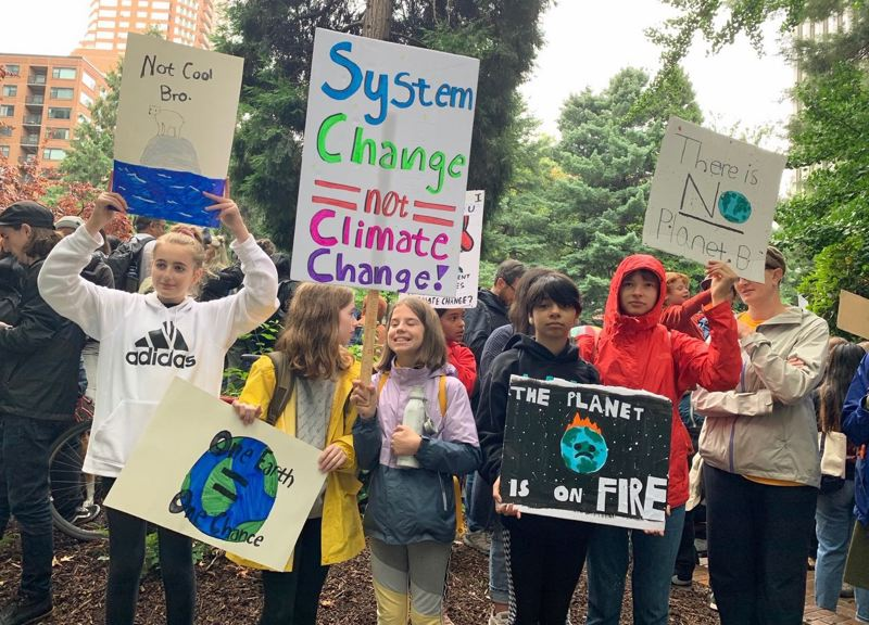 PMG FILE PHOTO - Portland-area students rally in 2019 to encourage action to curb climate change.