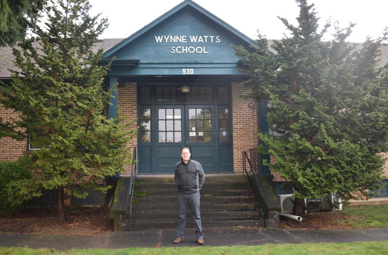 PMG PHOTO: TERESA CARSON - The 1936 Wynne Watts School is empty and will be razed for the construction of the affordable housing.