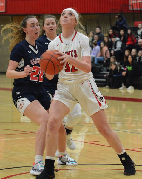 PMG PHOTO: DAVID BALL - Mt. Hood's Emily Webber came up with a team-high 21 points in Saturday's road win in Klamath Falls.