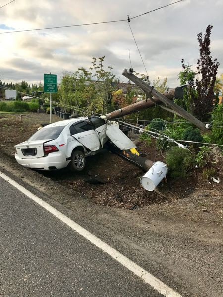 PMG FILE PHOTO - Oregon Senate President Peter Courtney has proposed a new bill to reduce the blood alcohol level needed for a DUII arrest. The bill was proposed to reduce crashes, like this one in Clackamas County, involving impaired drivers.
