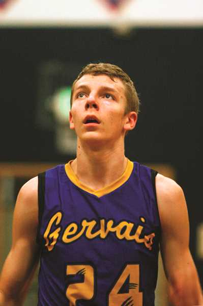 PMG FILE PHOTO: PHIL HAWKINS - Kylor Kelley was named PacWest Player of the Year for the Gervais Cougars in 2015,  averaging 15.9 points, 12.4 rebounds, 7.8 blocks and 2.4 assists.