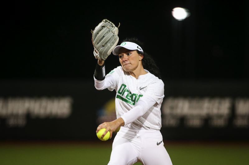 COURTESY: UNIVERSITY OF OREGON - Jordan Dail, who worked 248 of Oregon's 332.1 innings in 2019, should have more help on the pitching staff this season.