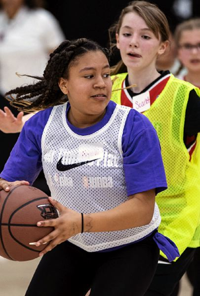COURTESY PORTLAND TRAIL BLAZERS - Girls in grades 4-8 are invited to participate in the six-week She Hoops series sponsored by the Portland Trail Blazers and presented by Nike.