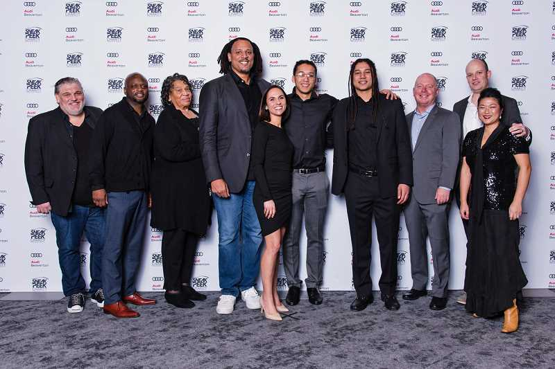 COURTESY PHOTO: PORTLAND INTERNATIONAL AUTO SHOW - Brian Grant, fourth from right, began his foundation when he was a member of the Portland Trail Blazers. Today, the foundation focuses on people — like Grant himself — who have been diagnosed with Young Onset Parkinsons disease. Its one of several good causes benefiting from the Sneak Peek Charity Party at the 2020 Portland International Auto Show.