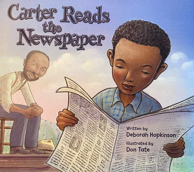 PMG PHOTO - Carter Reads the Newspaper by Deborah Hopkinson is up for an Oregon Book Award.
