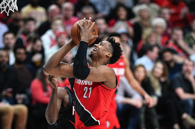 PMG PHOTO: CHRISTOPHER OERTELL - Hassan Whiteside has been big inside for the Trail Blazers, but can they afford to keep him after this season?
