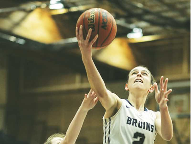 GFU PHOTO - Senior guard Emily Spencer contributed to a 32-18 advantage in points in the paint for the Bruins against Linfield.