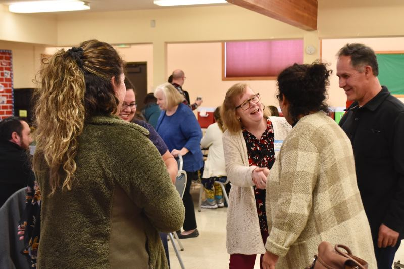 PMG PHOTO: BRITTANY ALLEN  - Several childcare providers, city staff and councilors, county staff members, school district representatives and more came together Jan. 31 to discuss solutions for the lack of childcare in Sandy.
