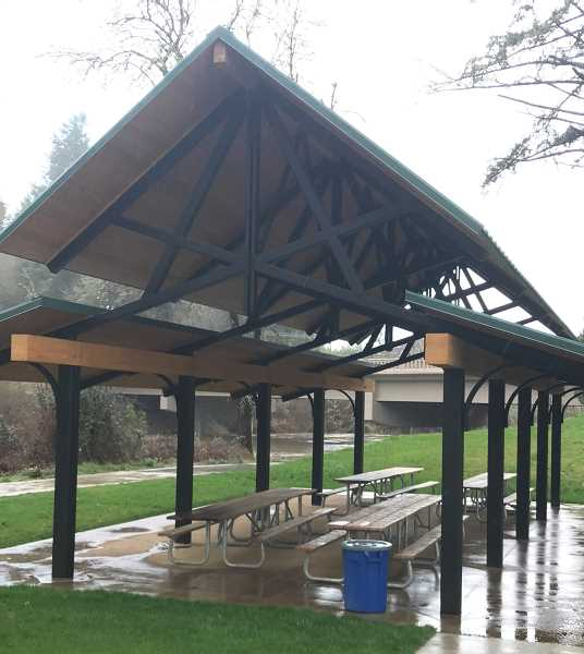 COURTESY PHOTO: WL PARKS AND REC - Fields Bridge Park now boasts two new day-use shelters.