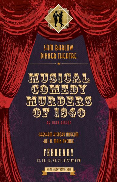 COURTESY PHOTO: SAM BARLOW HIGH SCHOOL - Musical Comedy Murders of 1940 will contain some of the suspsensful aspects of an earlier Sam Barlow High production of The Stagedoor Slasher.