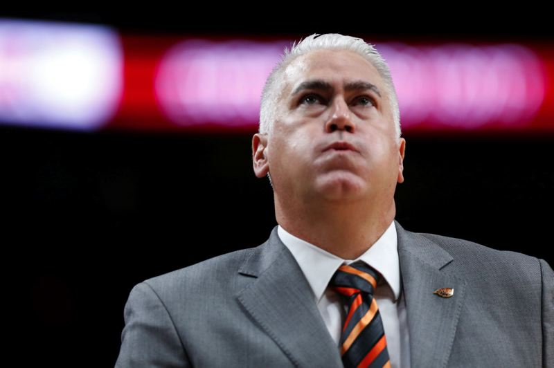 COURTESY PHOTO: RANDY L. RASMUSSEN - Oregon State men's basketball coach Wayne Tinkle's Beavers will play host to Oregon on Saturday night.