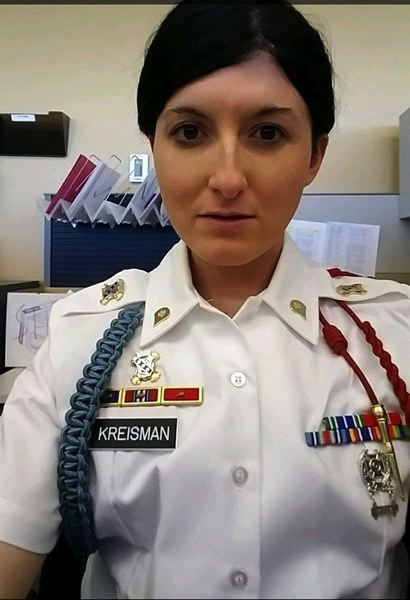 SUBMITTED PHOTO - Paige Kreisman enlisted in the U.S. Army after graduating from high school at 17, and says she was honorably discharged in 2017.