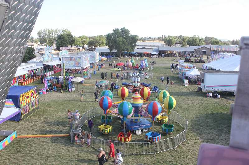 DESIREE BERGSTROM/MADRAS PIONEER - This year's carnival at the Jefferson County Fair will have a new look. Wold Amusements will be running the carnival this year after Davis closed in January.