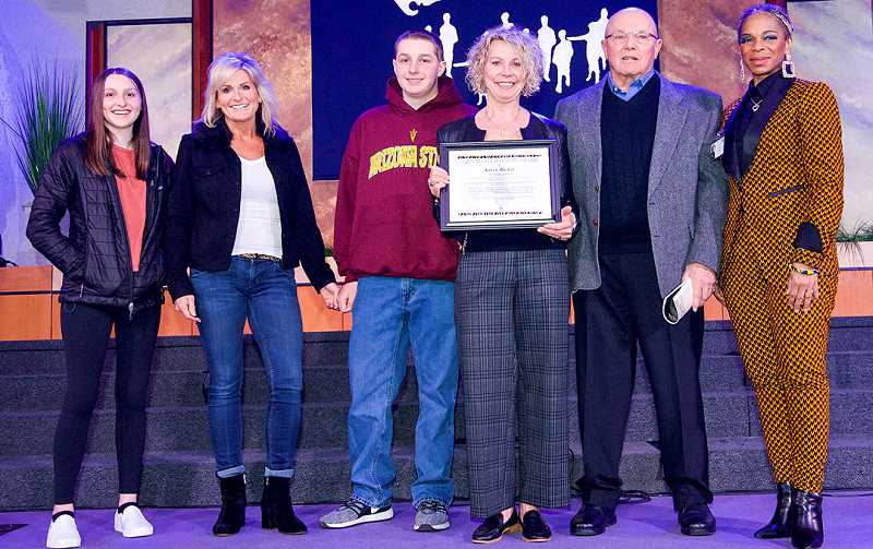 SUBMITTED PHOTO  - Karen Barker was honored with a lifetime achievement award on Jan. 20 in Portland.