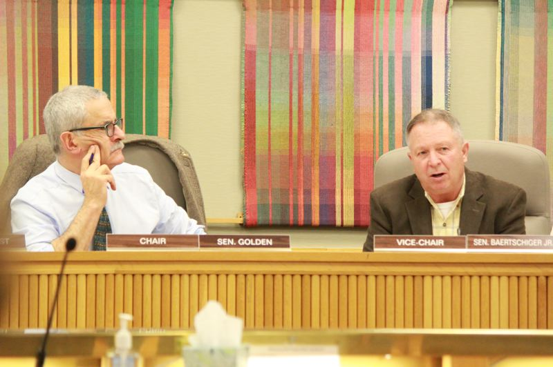 OREGON CAPITAL BUREAU: SAM STITES - State Sen. Jeff Golden and Sen. Herman Baertschiger discuss possible changes to a bill to fund wildfire response across the state.