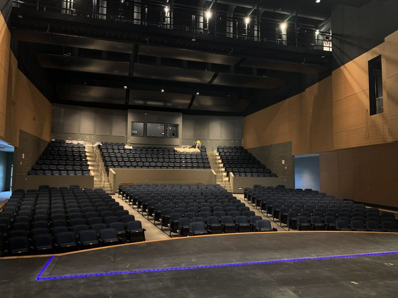 COURTESY PHOTO: GRESHAM-BARLOW SCHOOL DISTRICT - The modern performance space has up-to-date features and technology.