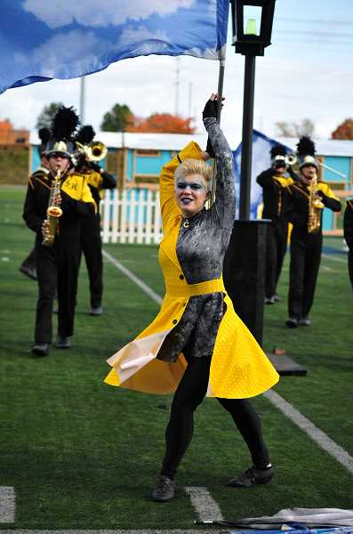 COURTESY PHOTO - Alana Saul is captain of the St. Helens Color Guard and Winter Guard. For the second year in a row, Saul auditioned and was chosen to perform with the Seattle Cascades Drum and Bugle Corps Color Guard. In late summer shell head out for service in the U.S. Navy.