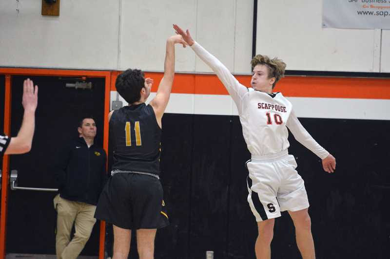 PMG FILE PHOTO - Scappoose wing Thomas Greiner and the Indians travel to St. Helens next Wednesday.