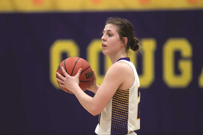 PMG PHOTO: PHIL HAWKINS - Gervais junior Katie Hanson and the Cougars scored their first season sweep over the Colton Vikings in seven years, when the two programs were both part of the 3A PacWest Conference.