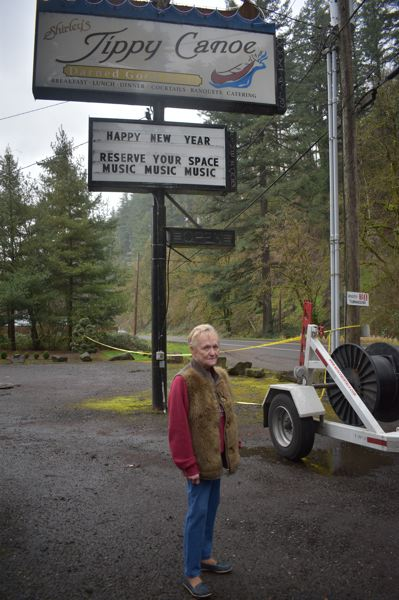 PMG PHOTO: SHANNON O. WELLS - Shirley Welton made a point of restoring the iconic, neon-enhanced sign when she bought the Tippy Canoe, which by 2007 had closed and fallen into disrepair.