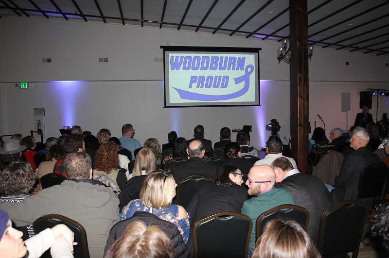 PMG PHOTO: JUSTIN MUCH - A large standing-room-only turnout set the scene for the 2020 Woodburn State of the City address on Friday, Feb. 7, at the Metropolis downtown.