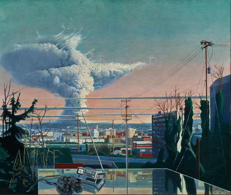 COURTESY PHOTO: PORTLAND ART MUSEUM - Modern artists, including Henk Pander, have portrayed Mount St. Helens, especially during the 1980 eruption.