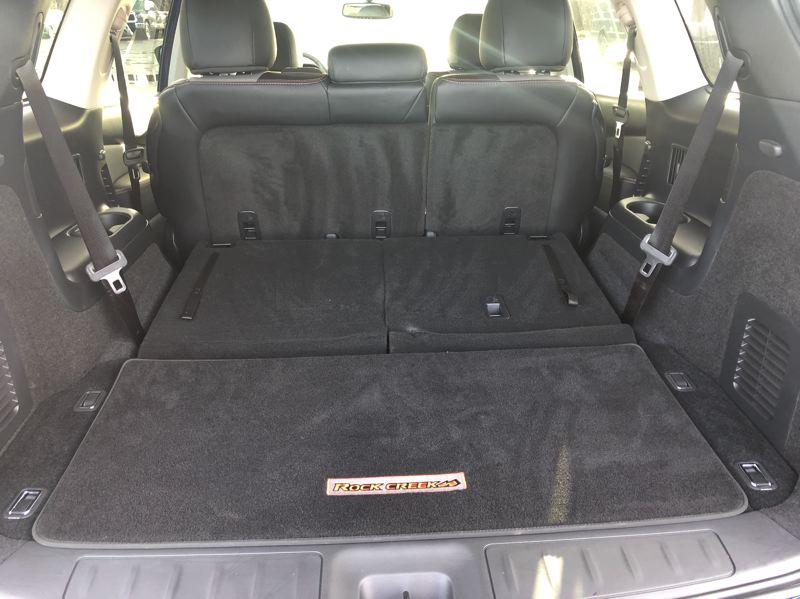 PMG PHOTO: JEFF ZURSCHMEIDE - Cargo space in the 2020 Nissan Pathfind is huge with the third row of seats folded down.