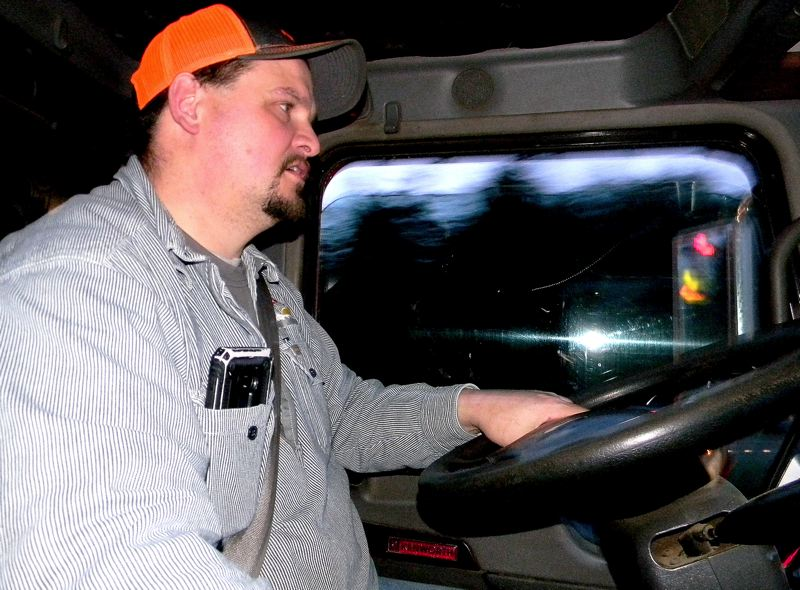 OREGON CAPITAL BUREAU: JAKE THOMAS - Yamhill County truck driver Jeremy Stinnett joined the Feb. 6 Timber Unity convoy to Salem because he wanted political leaders to change their carbon-reduction legislation.