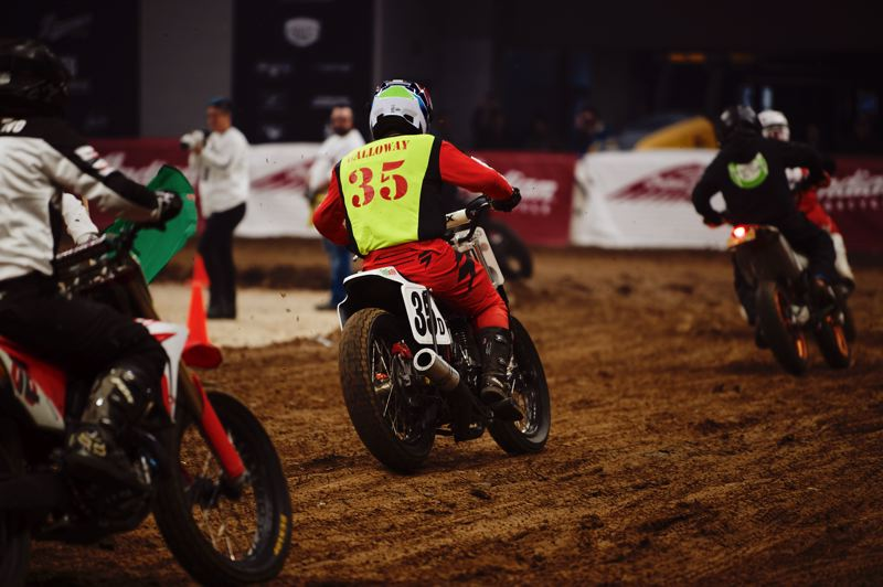 COURTESY: ONE MOTO/KYLE HANNON - The One Moto show brought flat track racing back to Veterans Memorial Coliseum last weekend.