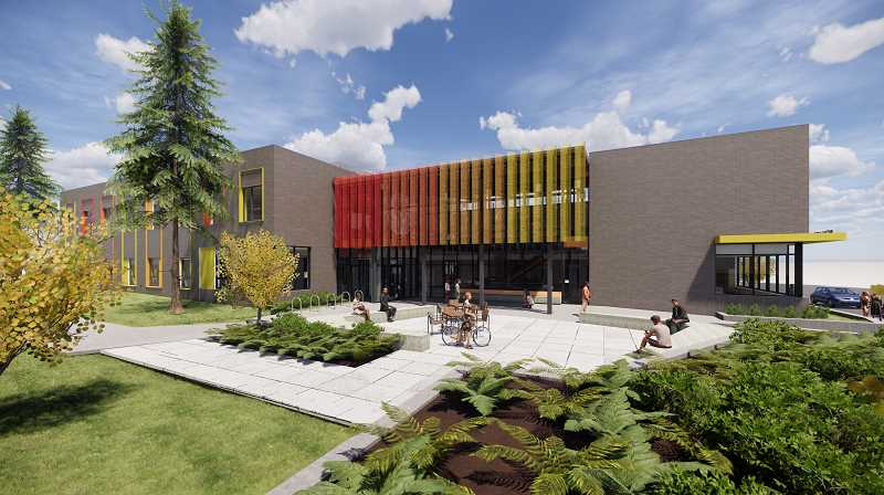 RENDERING COURTESY: NCSD - New Urban High School's replacement building in Oak Grove is scheduled to be completed in time for the beginning of the 2021-22 school year.