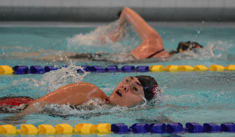 PMG PHOTO: DAVID BALL - Sandys Audri Kato won the breaststroke and 200 free to go along with a pair of relay wins in Thursdays dual win at Centennial.