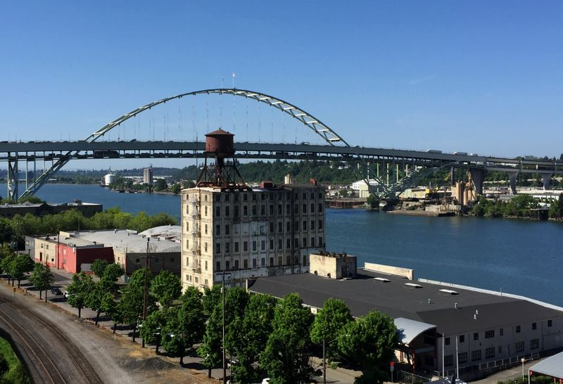 PMG PHOTO: BRIAN LIBBY - The Centennial Mills site is a monument to Portland's past.