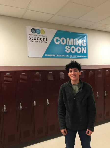 COURTESY PHOTO: MULTNOMAH COUNTY  -  Luis Calderon, 17, a Reynolds High School senior, plans to use the new Student Health Center coming to Reynolds High.