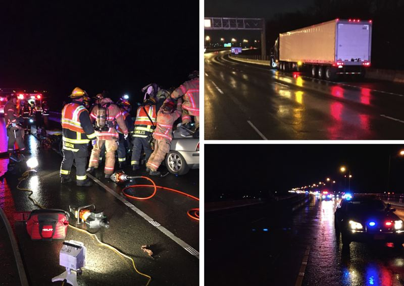 VIA PPB - A Gresham man died in after crashing into the back of a semi truck during the early morning hours of Saturday, Feb. 8, according to police.