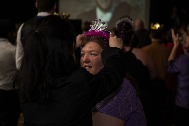 COURTESY PHOTO: DIANE CARBONE, AT HOME PLATE PHOTOGRAPHY - During the Night to Shine event, all attendees were crowned prom queen or king.