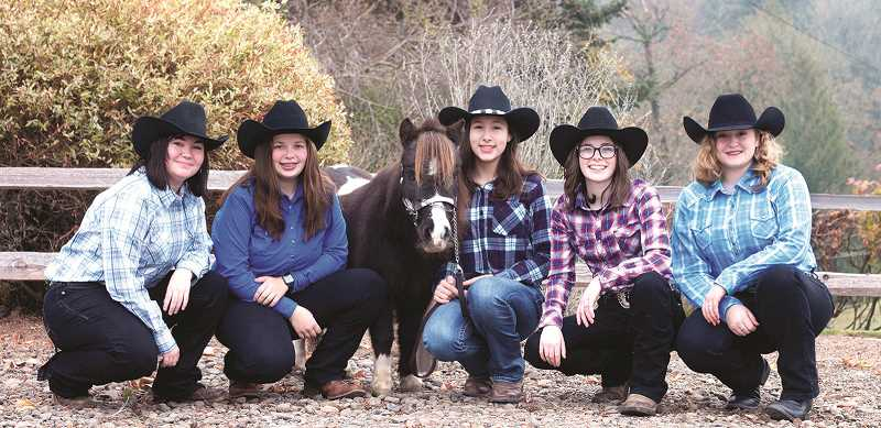 COURTESY PHOTO: KIM KNIGHT - The North Marion Equestrian team placed second among small schools and sixth overall in the first of three meets in the North Valley region this season. The Huskies compete next in Salem on March 5-8
