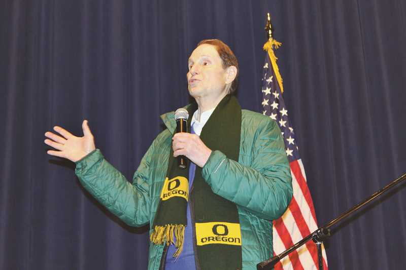 HOLLY M. GILL/MADRAS PIONEER - U.S. Sen. Ron Wyden will return to the Madras Performing Arts Center at 10 a.m. Feb. 21, 2020.