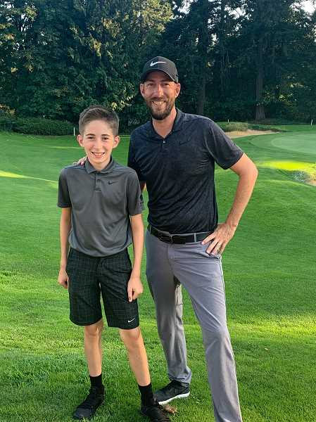 COURTESY PHOTO - Scott Erdmann and his son Zachary enjoy golfing together.