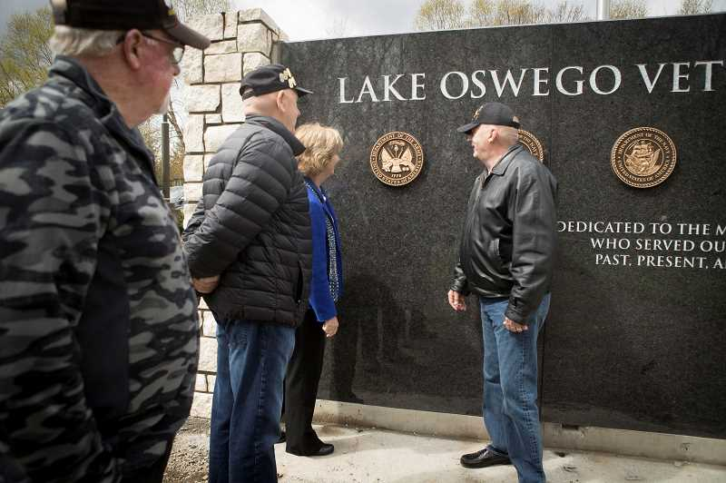 PMG FILE PHOTO  - The new Lake Oswego Veterans Memorial at Foothills Park received funding from the City's Municipal Grant program.