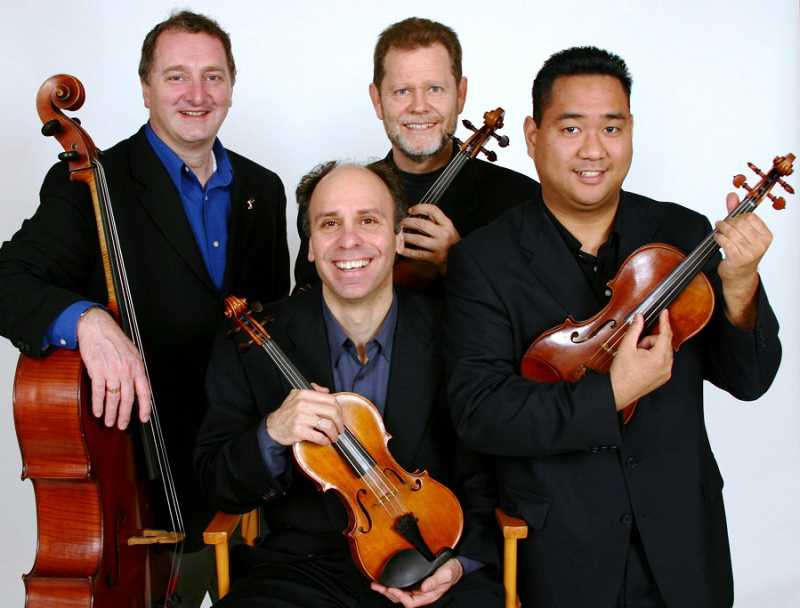 The Alexander String Quartet will play a concert at Agnes Flanagan Chapel on the Lewis & Clark College campus Feb. 13.