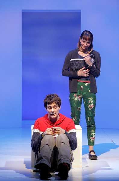 COURTESY PHOTO: CORY WEAVER/KANSAS CITY REPERTORY THEATRE - Jamie Sanders and Bree Elrod in 'The Curious Incident of the Dog in the Night-Time' opening February at The Armory.