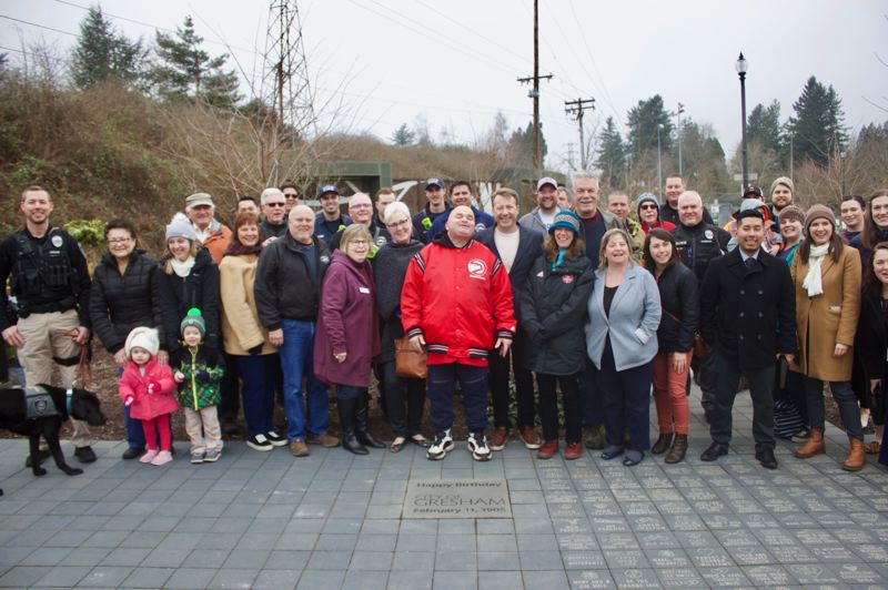 PMG PHOTO: CHRISTOPHER KEIZUR - Many members of the community gathered for Greshams birthday.