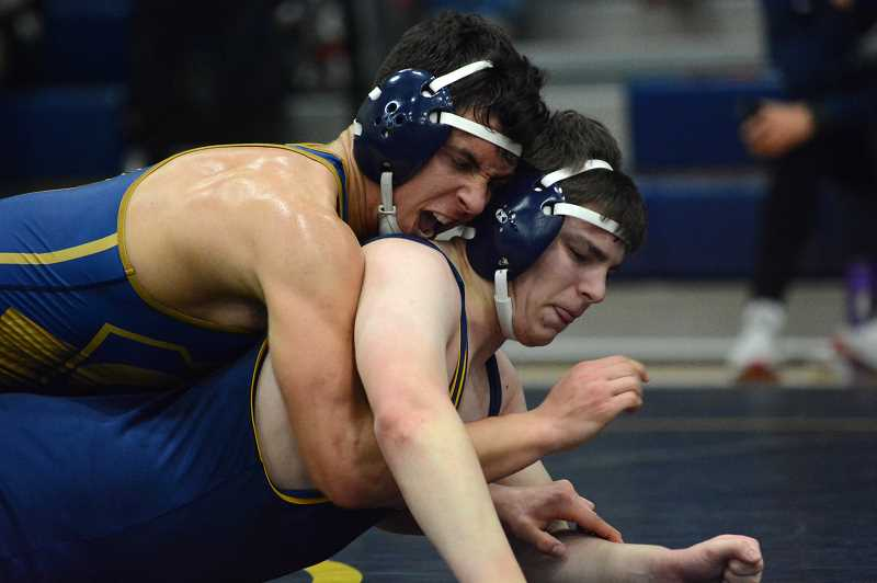 PMG PHOTO: DEREK WILEY - Canby senior Logan Doman will lead the Cougars into the Three Rivers League district wrestling tournament this Friday and Saturday.